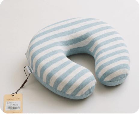 彩棉护颈U型枕 蓝色