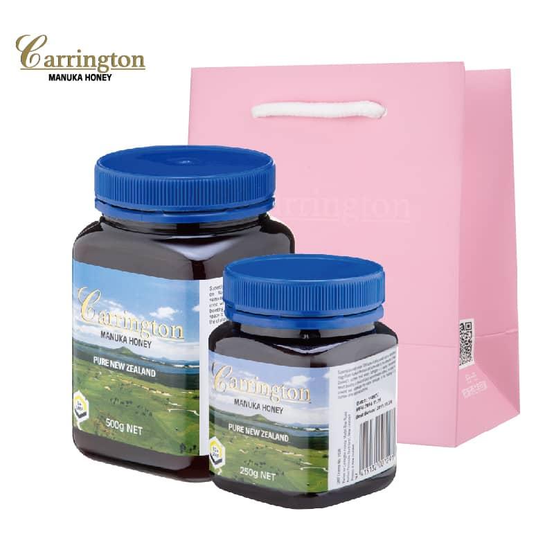 【甜蜜套餐A】Carrington凯林顿麦卢卡花蜂蜜(5+)500g 1瓶(10+)250g 1瓶
