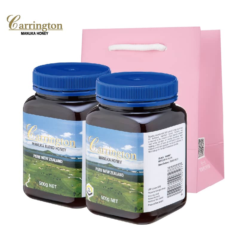 【甜蜜套餐B】Carrington凯林顿麦卢卡花蜂蜜(5+)500g 1瓶(混合蜜)500g 1瓶