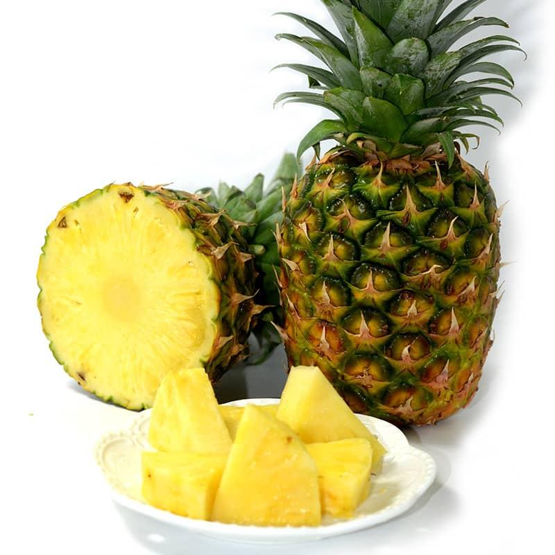菲律宾菠萝 2个 无孔菠萝 进口新鲜水果 单果1100-1400g/个